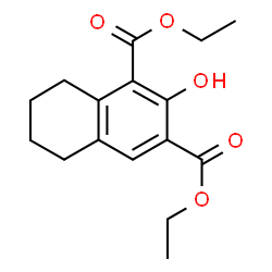 ChemSpider 2D Image | Diethyl 2-hydroxy-5,6,7,8-tetrahydro-1,3-naphthalenedicarboxylate | C16H20O5
