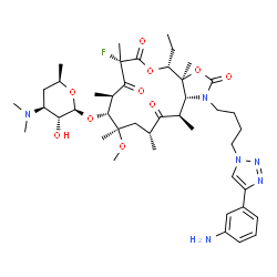 ChemSpider 2D Image | Solithromycin | C43H65FN6O10