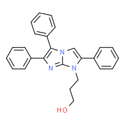 ChemSpider 2D Image | 3-(2,5,6-Triphenyl-1H-imidazo[1,2-a]imidazol-1-yl)-1-propanol | C26H23N3O