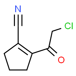 ChemSpider 2D Image | 2-(Chloroacetyl)-1-cyclopentene-1-carbonitrile | C8H8ClNO