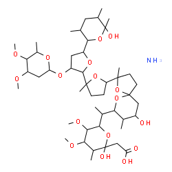 ChemSpider 2D Image | {6-[1-(2-{3'-[(4,5-Dimethoxy-6-methyltetrahydro-2H-pyran-2-yl)oxy]-5'-(6-hydroxy-3,5,6-trimethyltetrahydro-2H-pyran-2-yl)-2-methyloctahydro-2,2'-bifuran-5-yl}-9-hydroxy-2,8-dimethyl-1,6-dioxaspiro[4.5