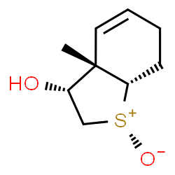 ChemSpider 2D Image | (3R,3aS,7aS)-3-Hydroxy-3a-methyl-2,3,3a,6,7,7a-hexahydro-1-benzothiophenium-1-olate | C9H14O2S