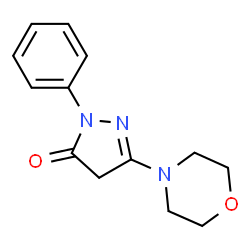 ChemSpider 2D Image | 5-(4-Morpholinyl)-2-phenyl-2,4-dihydro-3H-pyrazol-3-one | C13H15N3O2