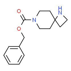 ChemSpider 2D Image | Benzyl 1,7-diazaspiro[3.5]nonane-7-carboxylate | C15H20N2O2