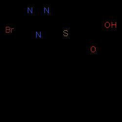 ChemSpider 2D Image | Lesinurad | C17H14BrN3O2S