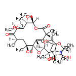 ChemSpider 2D Image | (3R,4S,5S,6R,7S,9R,11R,12R,13S,14R)-6-{[(2R,3R,4R)-4-(Dimethylamino)-3-hydroxy-6-methyltetrahydro-2H-pyran-2-yl]oxy}-14-ethyl-7,12,13-trihydroxy-4-{[(2S,4R,5R,6R)-5-hydroxy-4-methoxy-4,6-dimethyltetra