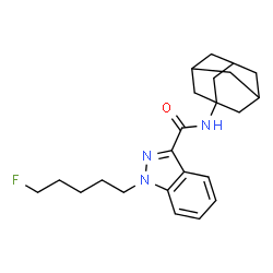 ChemSpider 2D Image | N-(Adamantan-1-yl)-1-(5-fluoropentyl)-1H-indazole-3-carboxamide | C23H30FN3O