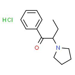 ChemSpider 2D Image   ?-pyrrolidinobutiophenone hydrochloride   C14H20ClNO