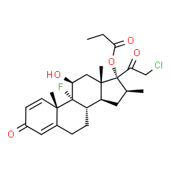 ChemSpider 2D Image | Clobetasol propionate | C25H32ClFO5