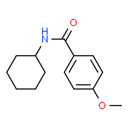 ChemSpider 2D Image | N-Cyclohexyl-4-methoxybenzamide | C14H19NO2