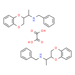 ChemSpider 2D Image | N-Benzyl-1-(2,3-dihydro-1,4-benzodioxin-2-yl)ethanamine ethanedioate (2:1) | C36H40N2O8