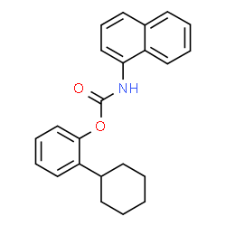 ChemSpider 2D Image | 2-Cyclohexylphenyl 1-naphthylcarbamate | C23H23NO2