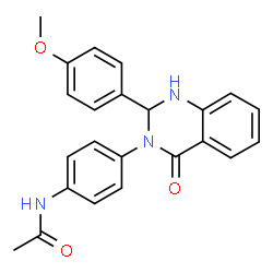 ChemSpider 2D Image | N-{4-[2-(4-Methoxyphenyl)-4-oxo-1,4-dihydro-3(2H)-quinazolinyl]phenyl}acetamide | C23H21N3O3