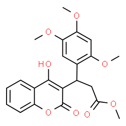 ChemSpider 2D Image | Methyl 3-(4-hydroxy-2-oxo-2H-chromen-3-yl)-3-(2,4,5-trimethoxyphenyl)propanoate | C22H22O8