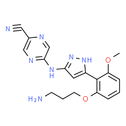 ChemSpider 2D Image | prexasertib | C18H19N7O2