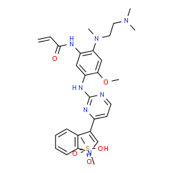 ChemSpider 2D Image | Osimertinib mesylate | C29H37N7O5S