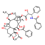 ChemSpider 2D Image | (5beta,7beta,10alpha,13alpha)-4,10-bis(acetyloxy)-13-{[(2R,3S)-3-(benzoylamino)-2-hydroxy-3-phenylpropanoyl]oxy}-1,7-dihydroxy-9-oxo-5,20-epoxytax-11-en-2-yl benzoate | C47H51NO14