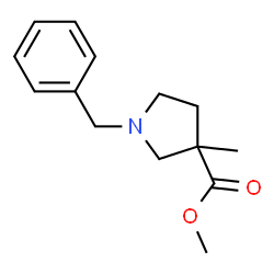 ChemSpider 2D Image | Methyl 1-benzyl-3-methyl-3-pyrrolidinecarboxylate | C14H19NO2