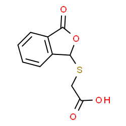 ChemSpider 2D Image | [(3-Oxo-1,3-dihydro-2-benzofuran-1-yl)sulfanyl]acetic acid | C10H8O4S