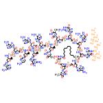 ChemSpider 2D Image | Imetelstat sodium | C148H197N68Na13O53P13S13