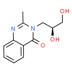 ChemSpider 2D Image | 3-[(2S)-2,3-Dihydroxypropyl]-2-methyl-4(3H)-quinazolinone | C12H14N2O3