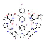 ChemSpider 2D Image   pibrentasvir   C57H65F5N10O8