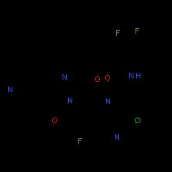 ChemSpider 2D Image | ivosidenib | C28H22ClF3N6O3