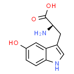 ChemSpider 2D Image | L-5-hydroxy-Tryptophan | C11H12N2O3
