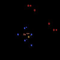 Iron(3+) thiocyanate 2,18-bis(2-carboxyethyl)-3,7,12,17