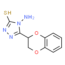 ChemSpider 2D Image | 4-Amino-5-(2,3-dihydro-1,4-benzodioxin-2-yl)-2,4-dihydro-3H-1,2,4-triazole-3-thione | C10H10N4O2S