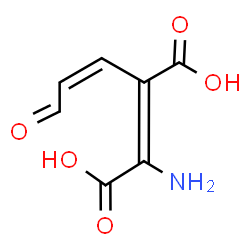 ChemSpider 2D Image | 2-amino-3-carboxymuconic acid semialdehyde | C7H7NO5
