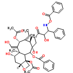 ChemSpider 2D Image | (1S,4S,7R,9S,10R,11Z,12R,17R)-4,12-Diacetoxy-15-{3-[(benzoyloxy)amino]-2-hydroxy-3-phenylpropanoyl}-1,9-dihydroxy-11-(hydroxymethylene)-10,14,17-trimethyl-6-oxatetracyclo[11.3.1.0~3,10~.0~4,7~]heptade