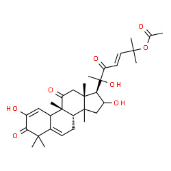 ChemSpider 2D Image | (9beta,14xi,23E)-2,16,20-Trihydroxy-9,10,14-trimethyl-1,11,22-trioxo-4,9-cyclo-9,10-secocholesta-2,5,23-trien-25-yl acetate | C32H44O8