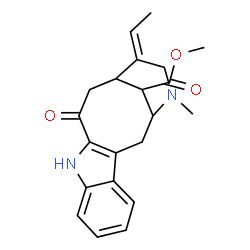 ChemSpider 2D Image | Methyl (19Z)-3-oxovobasan-17-oate | C21H24N2O3