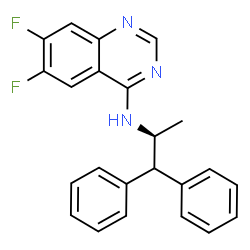 ChemSpider 2D Image | N-[(2S)-1,1-Diphenyl-2-propanyl]-6,7-difluoro-4-quinazolinamine | C23H19F2N3