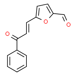 ChemSpider 2D Image | 5-[(1E)-3-Oxo-3-phenyl-1-propen-1-yl]-2-furaldehyde | C14H10O3