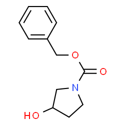 ChemSpider 2D Image | Benzyl 3-hydroxy-1-pyrrolidinecarboxylate | C12H15NO3