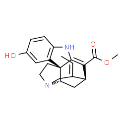 ChemSpider 2D Image | Methyl (15beta,19Z)-10-hydroxy-2,16-didehydrocur-19-en-17-oate | C20H22N2O3