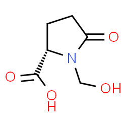 ChemSpider 2D Image | 1-(Hydroxymethyl)-5-oxo-L-proline | C6H9NO4