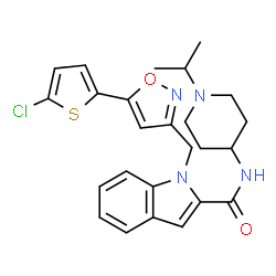 ChemSpider 2D Image | 1-{[5-(5-CHLORO-2-THIENYL)ISOXAZOL-3-YL]METHYL}-N-(1-ISOPROPYLPIPERIDIN-4-YL)-1H-INDOLE-2-CARBOXAMIDE | C25H27ClN4O2S