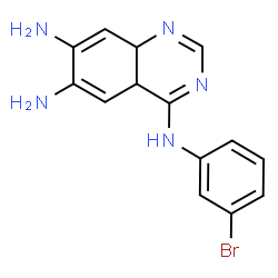 ChemSpider 2D Image | N~4~-(3-Bromophenyl)-4a,8a-dihydro-4,6,7-quinazolinetriamine | C14H14BrN5