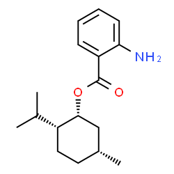 ChemSpider 2D Image | (1R,2R,5R)-2-Isopropyl-5-methylcyclohexyl 2-aminobenzoate | C17H25NO2