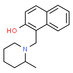 ChemSpider 2D Image | 1-[(2-Methyl-1-piperidinyl)methyl]-2-naphthol | C17H21NO
