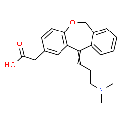ChemSpider 2D Image | {11-[3-(Dimethylamino)propylidene]-6,11-dihydrodibenzo[b,e]oxepin-2-yl}acetic acid | C21H23NO3