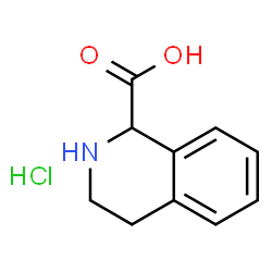 ChemSpider 2D Image | 1,2,3,4-Tetrahydro-1-isoquinolinecarboxylic acid hydrochloride (1:1) | C10H12ClNO2