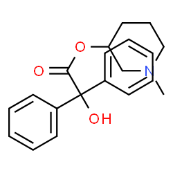 ChemSpider 2D Image | N-methyl-3-piperidyl benzilate | C20H23NO3