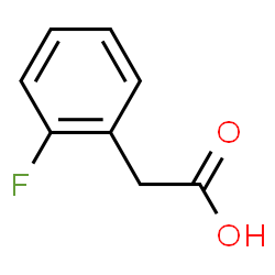 ChemSpider 2D Image | 2-fluorophenylaceticacid | C8H7FO2