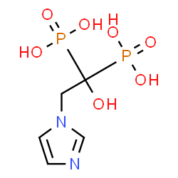 ChemSpider 2D Image | Zoledronic acid | C5H10N2O7P2