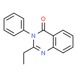 ChemSpider 2D Image | 2-Ethyl-3-phenyl-4(3H)-quinazolinone | C16H14N2O