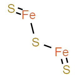 ChemSpider 2D Image | mu-Sulfide(dithioxo)diiron | Fe2S3